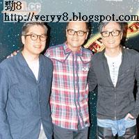 (右起)鄭中基、林家棟與林曉峰出席金像獎記者會。