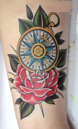 75364511f 50 Best Compass Tattoo Designs and Ideas