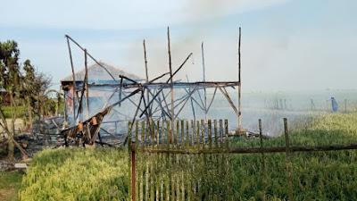 Ya Ampun  ... Mess Peternak Ayam di Karawang Kebakaran