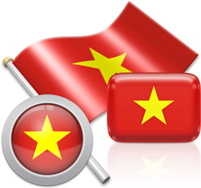 Vietnamese flag icons pictures collection