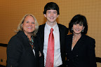 Cheryl Reynolds, National Philanthropy Day Luncheon Chair; Matthew Willis (Outstanding Youth in Philanthropy); Margaret Willis