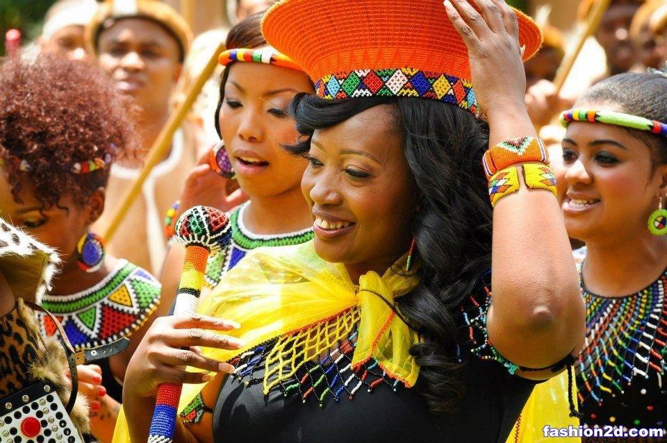Zulu Traditional Attire For Africa Wedding