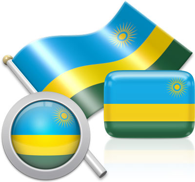 Rwandan flag icons pictures collection