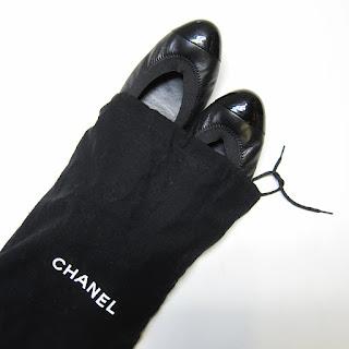 Chanel CC Elastic Ballet Flats