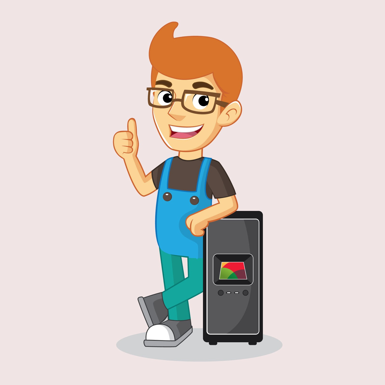 Computer Mechanic Computer Free Download Vector CDR, AI, EPS and PNG Formats