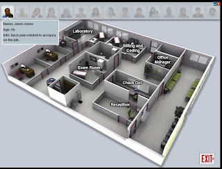 Virtual Medical Office Patient Selection Screen