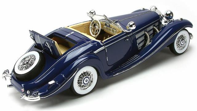 Cận cảnh xe ô tô mô hình 1:18 Mercedes Benz 500K Specialroader