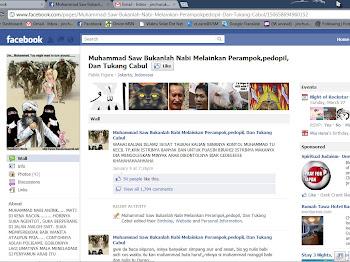page FB yang mempersendakan nabi MUHAMMAD