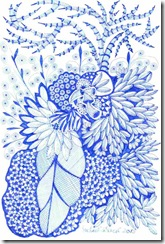 384 Zentangle Leaves