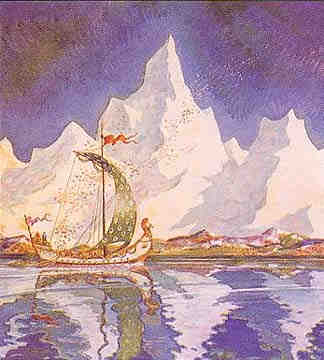 Bragi Sings From His Boat, Asatru Gods And Heroes