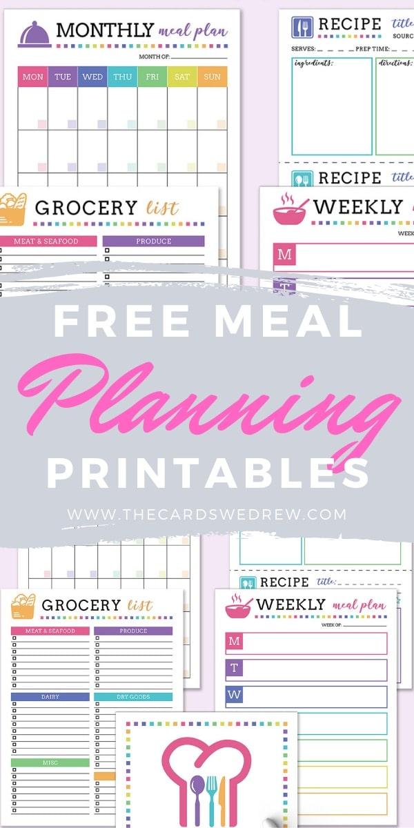 Free Menu Planning Printables
