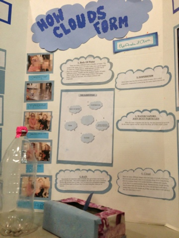 Science Fair project about Making a Cloud in a bottle