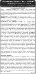 Chittaranjan National Cancer Institute Vacancy 2016