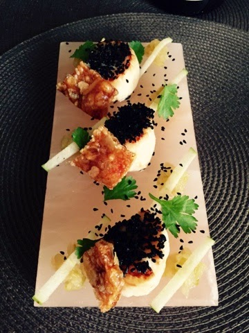Scallops on Himalayan salt block by Restaurant Fix