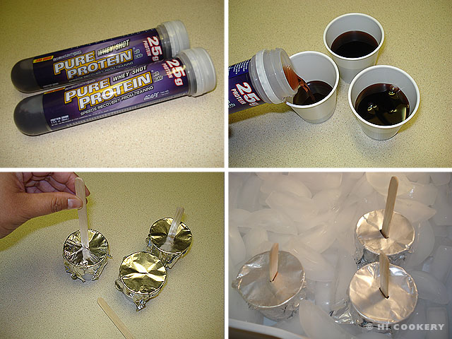 Grape Protein Popsicles