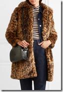 J Crew Leopard Print Faux Fur Coat