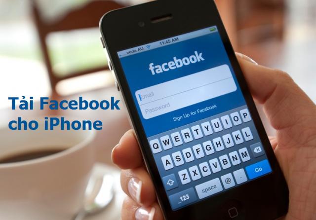 Tải ứng dụng Facebook cài đặt trên iPhone 4,5,6