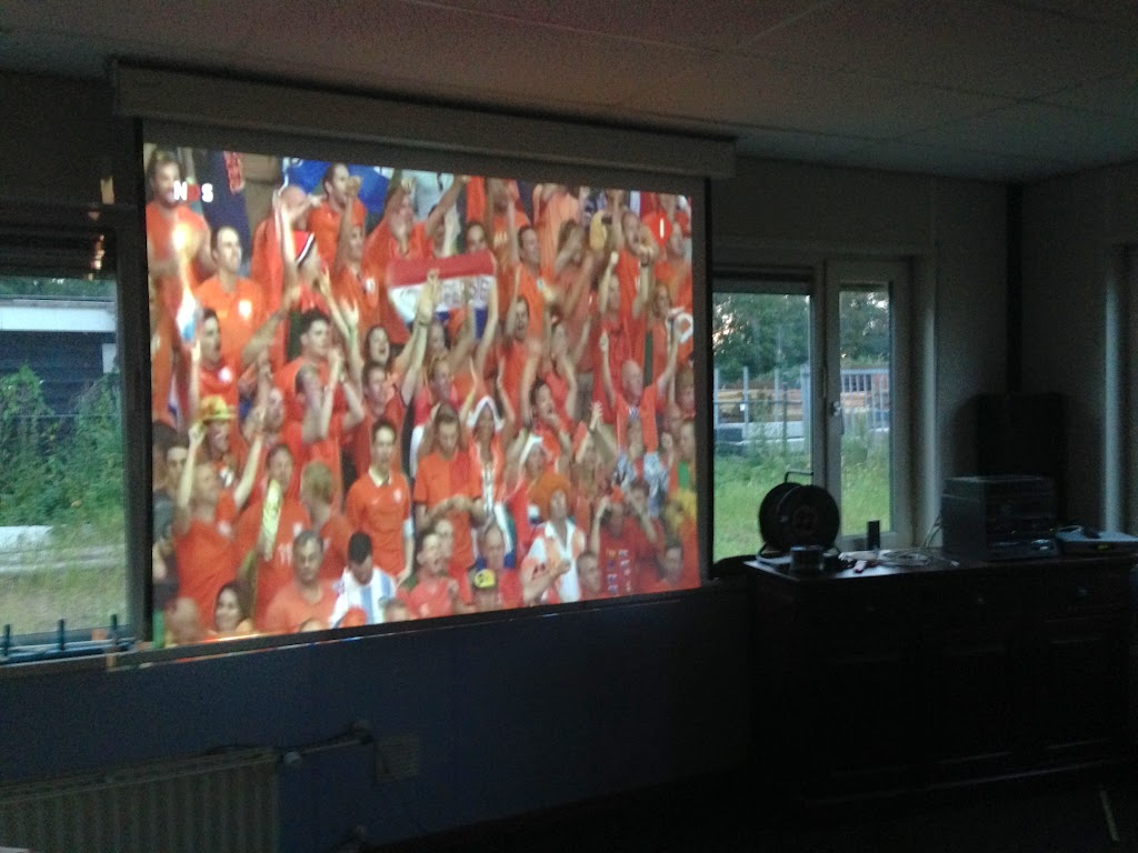 Ook de Bevers keken voetbal!