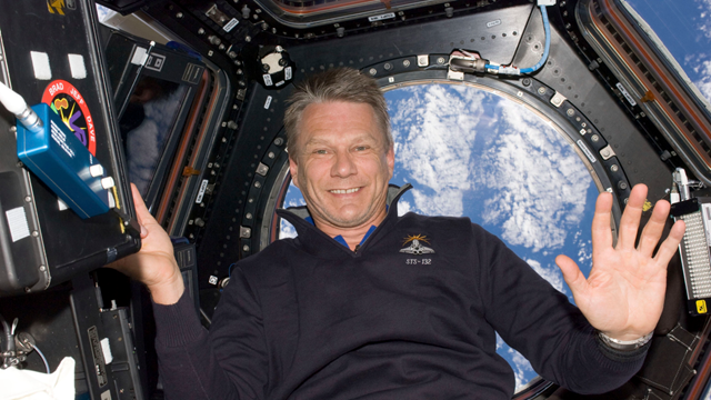 NASA astronaut and climate scientist Piers Sellers aboard the International Space Station. Photo: NASA / Reuters