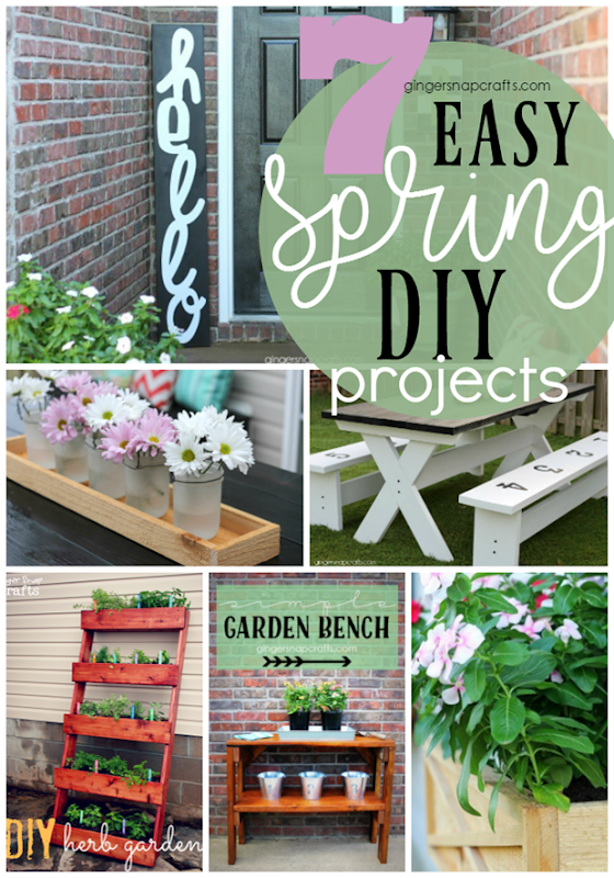 7 Easy Spring DIY Projects from GingerSnapCrafts.com #DIY #spring #doityourself #forthehome