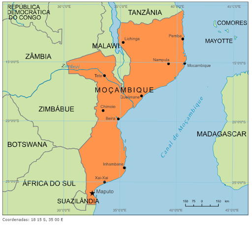 mapa de moçambique Blog de Geografia: Mapa de Moçambique mapa de moçambique