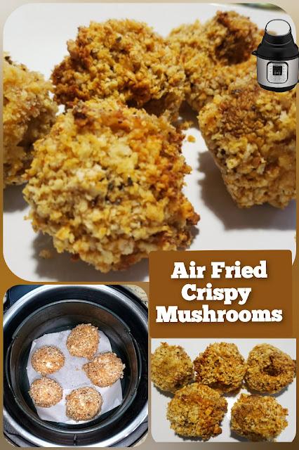 Air Fried Crispy Mushrooms in Instant Pot Air Fryer Lid