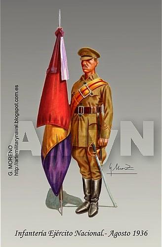 Infantería Ejército Nacional. Agosto 1936