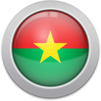 Burkinabé flag icon with a silver frame