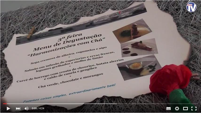 Vídeo - Chá ao Almoço na Escola de Hotelaria em Lamego