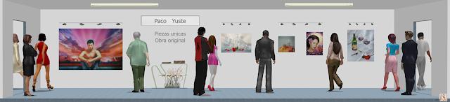 Sala de exposición virtual de pinturas de Paco Yuste