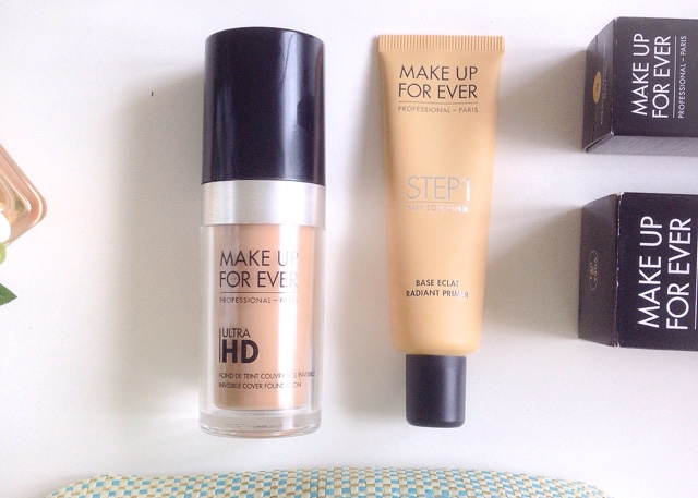 Make Up For Ever Ultra HD Foundation & Step 1  Radiant Primer