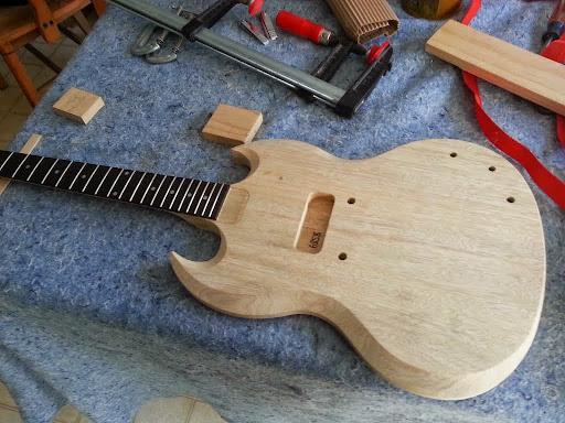 building a precision guitar kits aka fast guitars sg junior