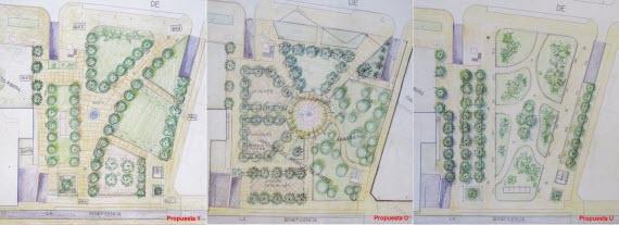 Los nuevos jardines del arquitecto Ribera saldrán de tres propuestas y estarán listos en 2015 - pincha para ampliar el plano