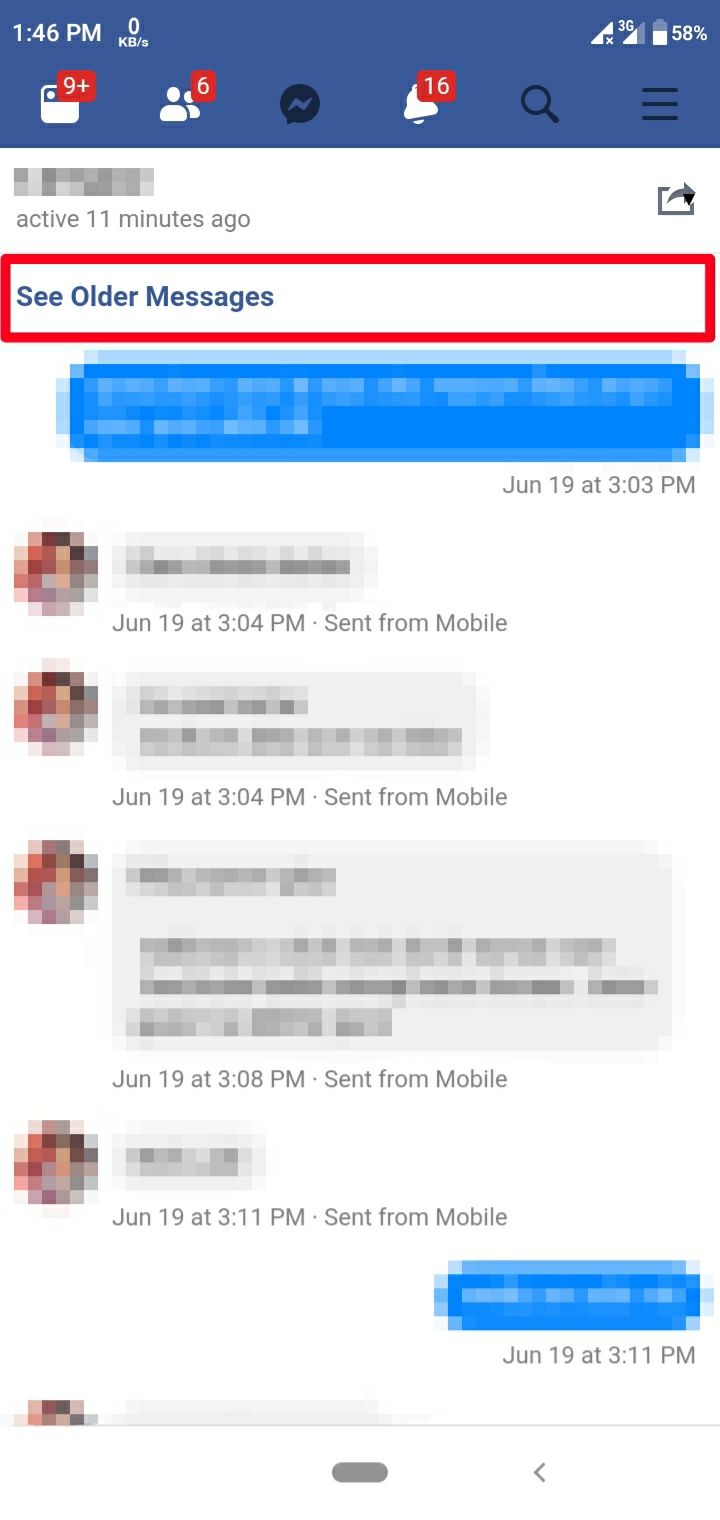 Export Facebook messages to PDF