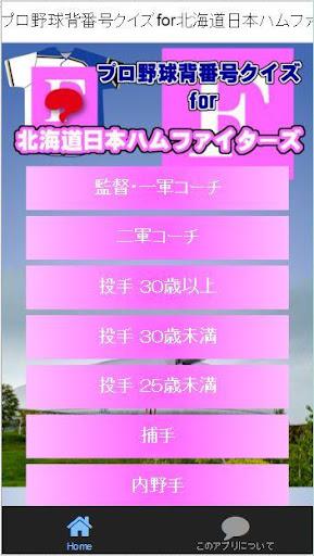 プロ野球背番号クイズfor北海道日本ハムファイターズ
