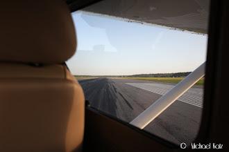 Photo: Lining up runway 19.