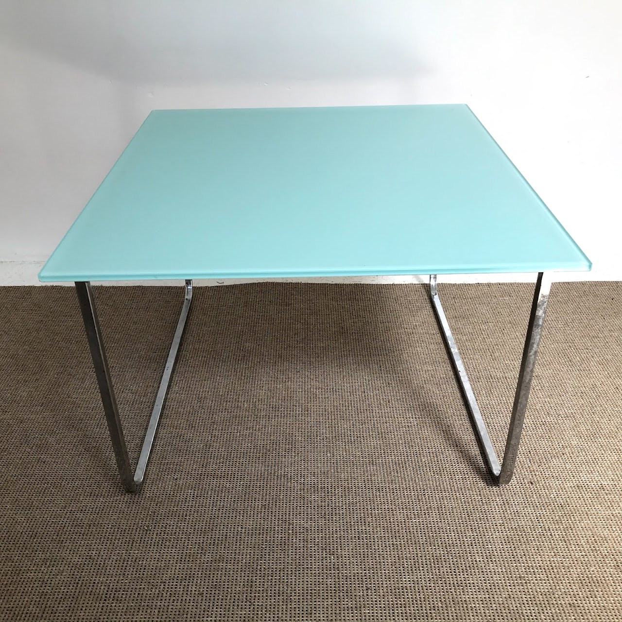 Modern Chrome & Glass Coffee Table