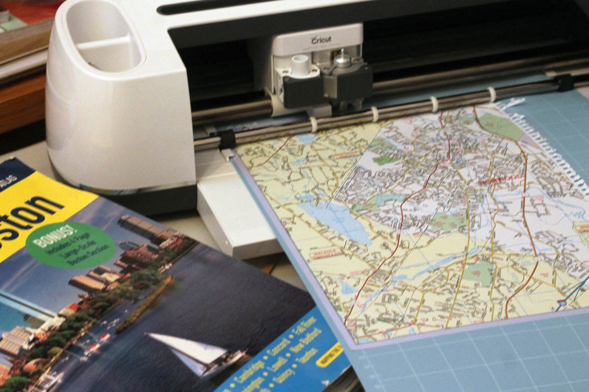 Cutting old maps with cricut maker