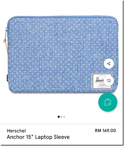 "Herschel Anchor 15"" laptop sleeve"