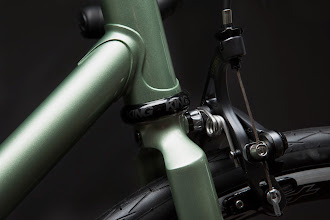 """Photo: Lower head lug, cut in my """"Modern"""" style, along with the internally socketed fork crown."""