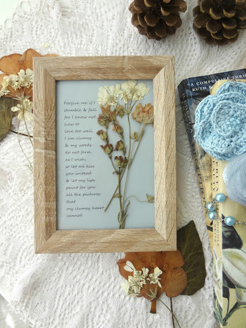 dried flower poem artwork DIY