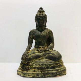 Small Iron Buddha Statue
