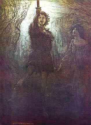 Siegmund Wins Nothung, Asatru Gods And Heroes
