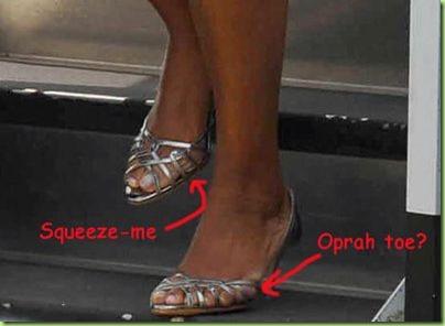 oprah toes