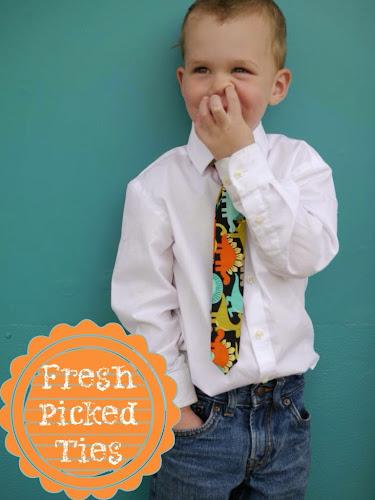 Fresh picked ties, Easter ties, boys ties, little boy ties