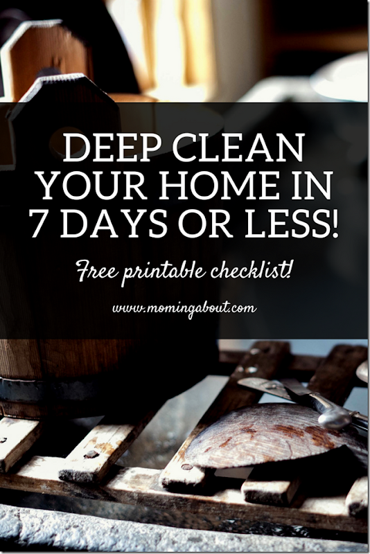 deep clean printable list