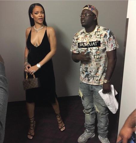 Rihanna attends Drake's Summer Sixteen Tour wearing Dion Lee