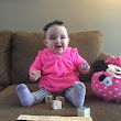 Morgan is nine months, teeth, pneumonia and nearly walking