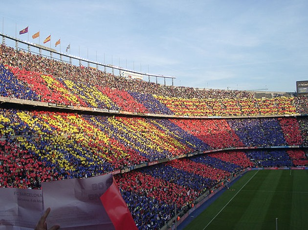 Support for Barca at Camp Nou