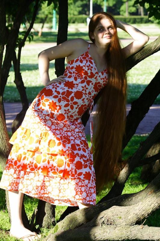 Amazing women Long hair girl